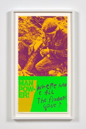 manflowers by Corita Kent contemporary artwork