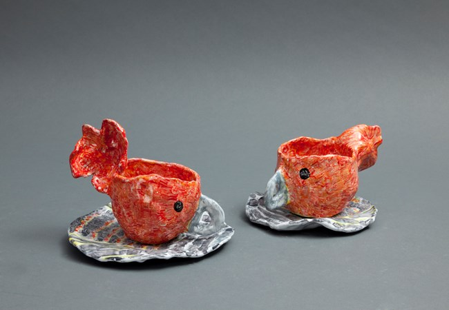 Gang Gangs Teacups by Peter Cooley contemporary artwork