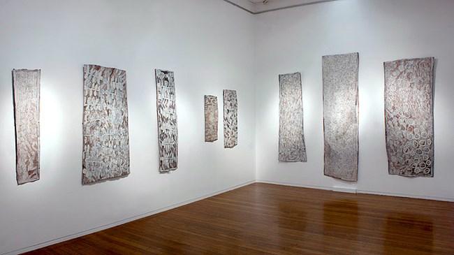 Installation view by Nyapanyapa Yunupiŋu contemporary artwork