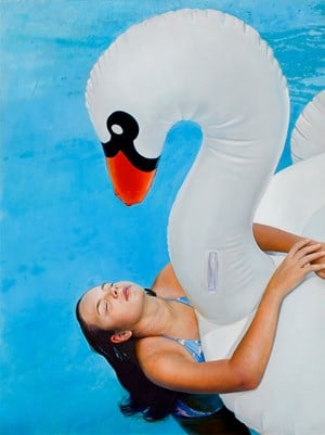 Phoebe is 11/Swan by Michael Zavros contemporary artwork