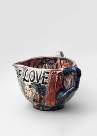 Vase 5 (from the series Sick of Love) by Jakub Julian Ziolkowski contemporary artwork ceramics