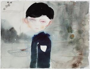 Blind in One Egg by Sanya Kantarovsky contemporary artwork