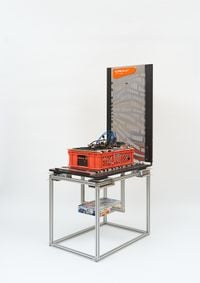 Centralization vs Decentralization hardware display: Cray Urika-GX/Zcash/GoL Twists & Turns by Simon Denny contemporary artwork sculpture