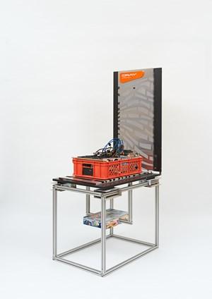 Centralization vs Decentralization hardware display: Cray Urika-GX/Zcash/GoL Twists & Turns by Simon Denny contemporary artwork