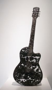Guitar by Shi Jindian contemporary artwork installation