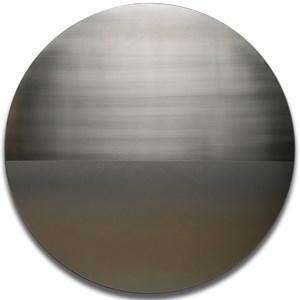 Grey Gold Mandala by Miya Ando contemporary artwork