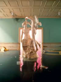 After the Deluge: Statue by David LaChapelle contemporary artwork photography