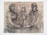 Two Seated Women and a Child by Henry Moore contemporary artwork 1