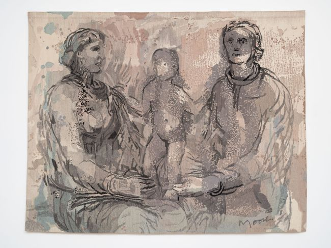 Two Seated Women and a Child by Henry Moore contemporary artwork
