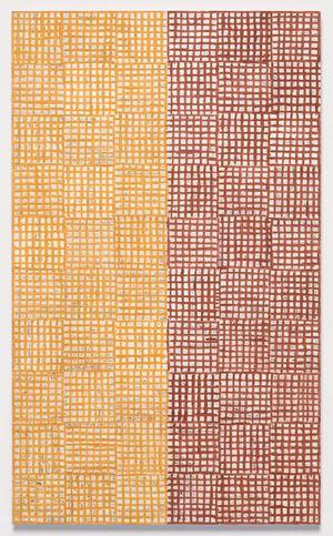 Looking for Seasons: XVIII by McArthur Binion contemporary artwork