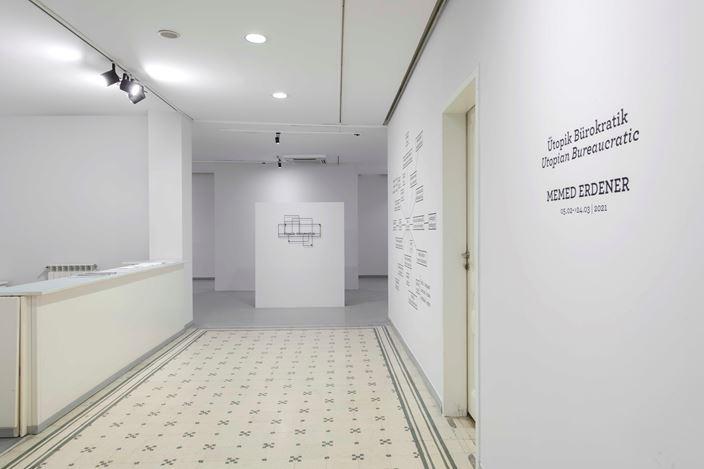 Exhibition view: Memed Erdener, Utopian Bureaucratic, Zilberman Gallery, Istanbul (5 February–24 March 2021). Courtesy Zillberman Gallery.