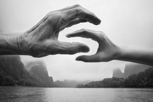 Ren Xinyu, Along the Li River, Guilin, China by Arno Rafael Minkkinen contemporary artwork