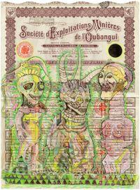 Societe d'Exploitations Minieres de l'Oubangui 1 by Hew Locke contemporary artwork mixed media