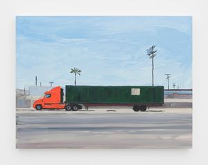 Orange truck by Jean-Philippe Delhomme contemporary artwork