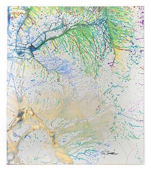 Heiwa No Akashi 2007-18 by Shozo Shimamoto contemporary artwork
