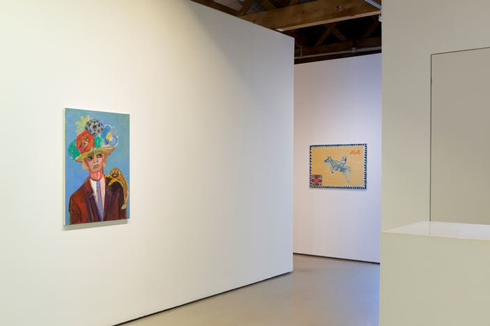 Exhibition view: Carla Busuttil, Gentlemen, I Just Dont Belong Here, Goodman Gallery, Cape Town (16 March–8 May 2019). Courtesy the artist and Goodman Gallery.