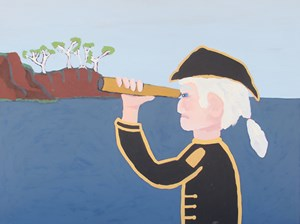 Captain Cook by Vincent Namatjira contemporary artwork