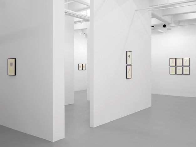 Exhibition view: Dom Sylvester Houédard, Lisson Gallery, 10th Avenue, New York(2 May–16 June 2018). © The Artist. Courtesy Lisson Gallery.