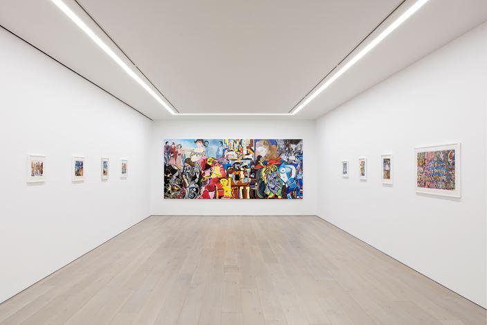Exhibition view: Erró, Perrotin, New York (14 January–15 February 2020). © Courtesy the artist & Perrotin. Photo: Guillaume Ziccarelli.