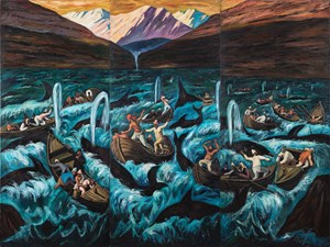 Whale Hunters by Qin Qi contemporary artwork