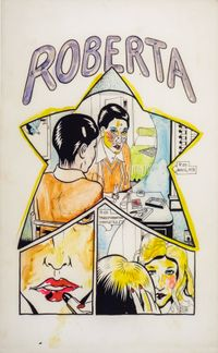 Comics: Page 1, Roberta Transformation by Lynn Hershman Leeson contemporary artwork works on paper