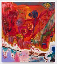 Yum Yum Red Rum by Shara Hughes contemporary artwork painting