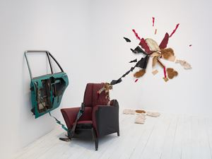 Car Door, Armchair and Incident by Bill Woodrow contemporary artwork