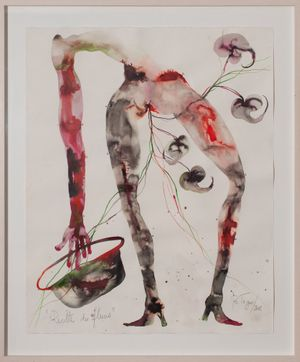 RECOLTE DES FLEURS by Barthélémy Toguo contemporary artwork painting, works on paper