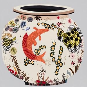 M.S.F. Fish Pot #7 by Jonas Wood contemporary artwork