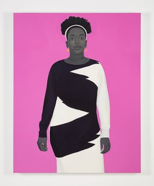 Sometimes the king is a woman by Amy Sherald contemporary artwork