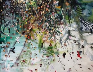 Wind Listening 聽風 by Liu Shih-Tung contemporary artwork painting