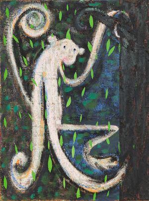 Monkey in Tree by Antone Könst contemporary artwork