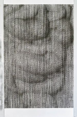 untitled charcoal III (inside out) by Sam Harrison contemporary artwork