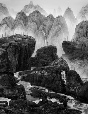 Time Immemorial -The Streams by Yang Yongliang contemporary artwork