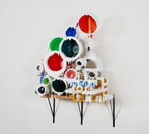 White Discharge ( Built-up Objects ) #49 白色釋放(建築物) #49 by Teppei Kaneuji contemporary artwork