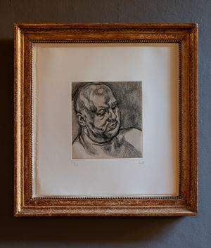 Head of a Man by Lucian Freud contemporary artwork