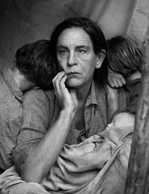 Dorothea Lange/ Migrant Mother, Nipomo, California (1980) by Sandro Miller contemporary artwork