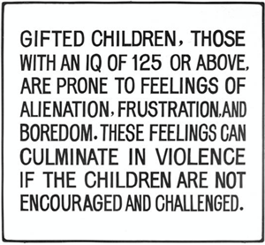 Gifted Children, those with an IQ... by Jenny Holzer contemporary artwork
