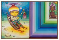 Liquid room by OSGEMEOS contemporary artwork mixed media
