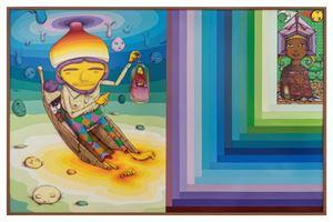 Liquid room by OSGEMEOS contemporary artwork