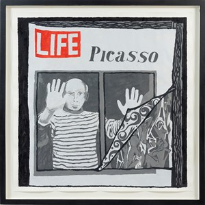 Life Magazine: Picasso. From the 'Magazine' series by Derek Boshier contemporary artwork