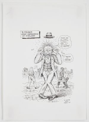 R. Crumb's First Impression of Finland by R. Crumb contemporary artwork