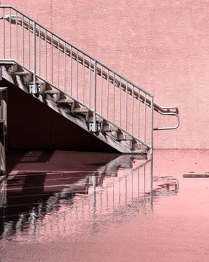 Staircase at King Tide, Hollywood, Florida by Anastasia Samoylova contemporary artwork