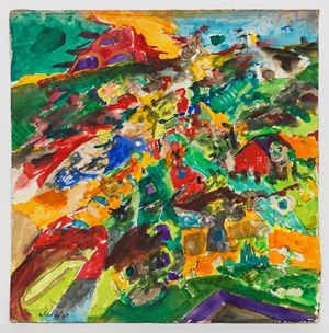 Vertical Landscape #3 by Jack Whitten contemporary artwork