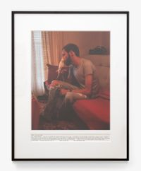Peter - Living with AIDS by Fiona Clark contemporary artwork photography