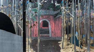 Contemporary art exhibition, Liang Shuo, Temple of Candour at Beijing Commune, China