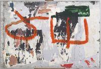 Sul muro by Mimmo Rotella contemporary artwork works on paper