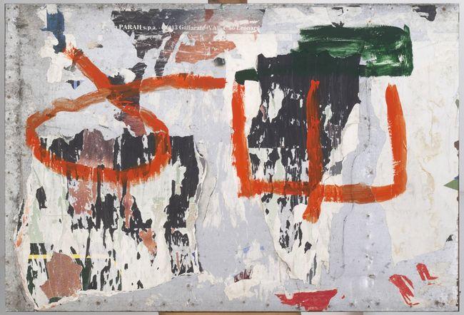 Sul muro by Mimmo Rotella contemporary artwork
