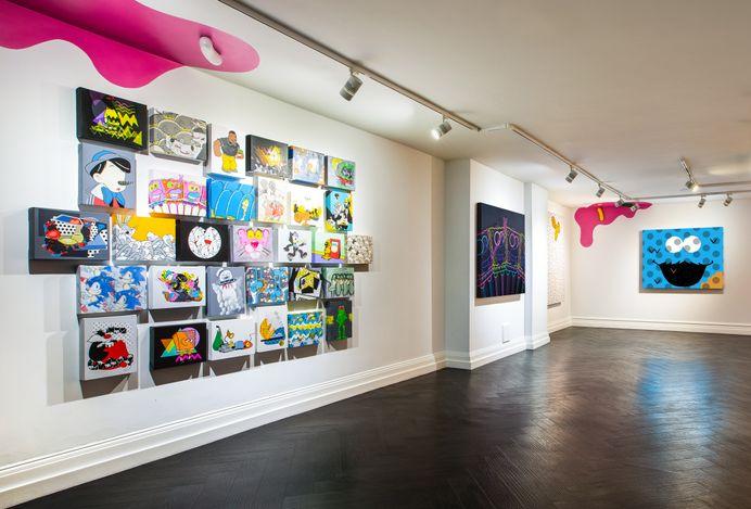 Exhibition view: Jerkface, Villainy, Maddox Gallery, Maddox Street, London (24 June–15 July 2021). Courtesy Maddox Gallery.