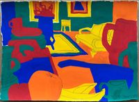 Bananas, Apples and Oranges by Todd James contemporary artwork painting, works on paper